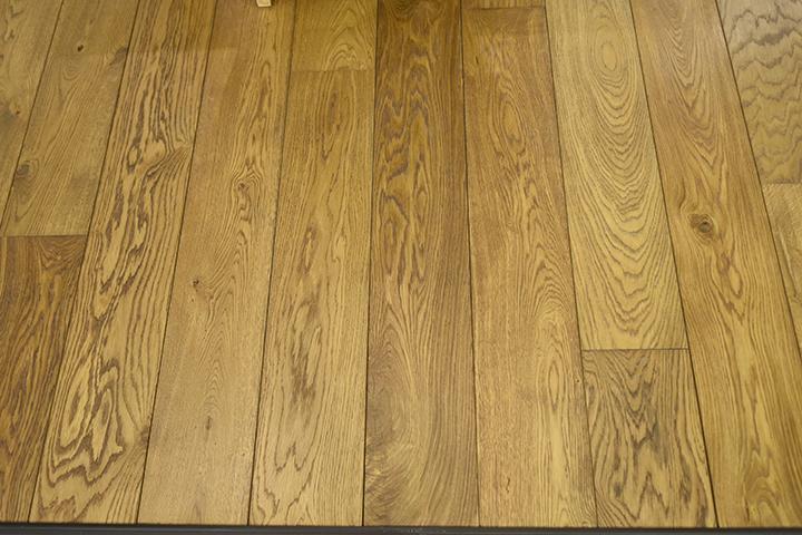 Massief houten vloer - Massief Frans eiken vloer, vol verlijmd in hardwax olie