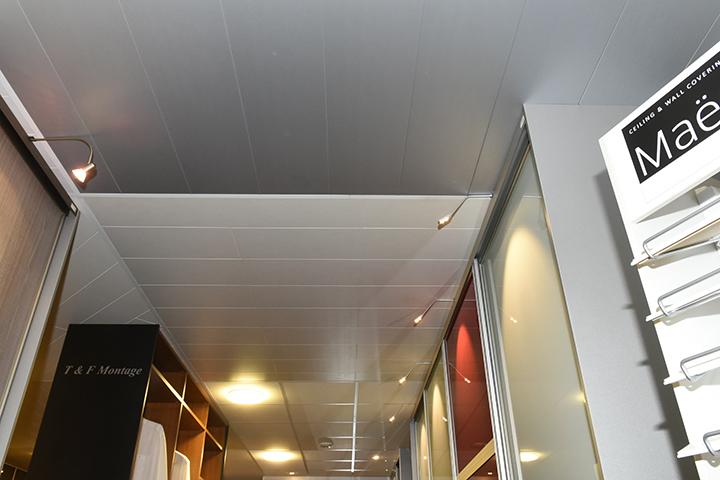 Panelenplafonds - Panelenplafond in aluminiumkleur en Maestro panelenplafonds