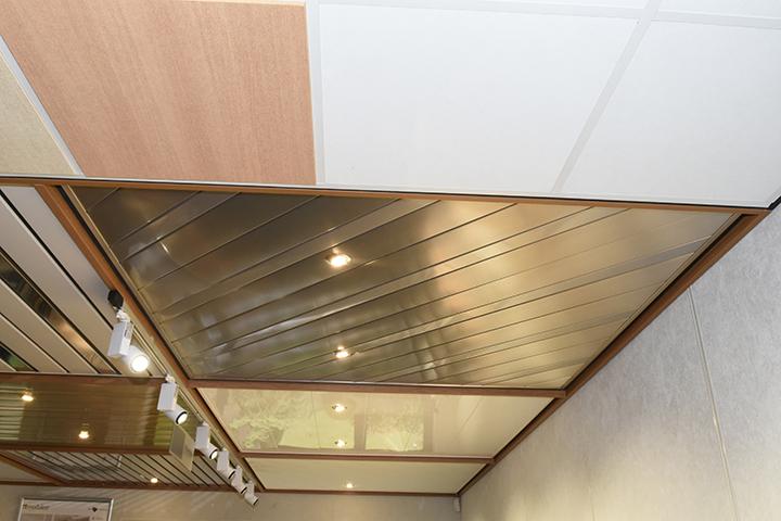 Aluminium plafond - Aluminium lamellenplafond goudkleurig in verschillende breedtes